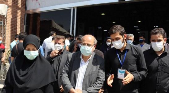 بازدید فرمانده ستاد مقابله با کرونای تهران از مرکز واکسیناسیون شهید کسری اسمعیلی